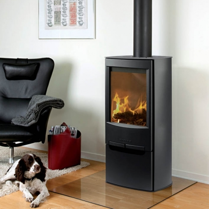 Tall Wood Burning Stove with Flu