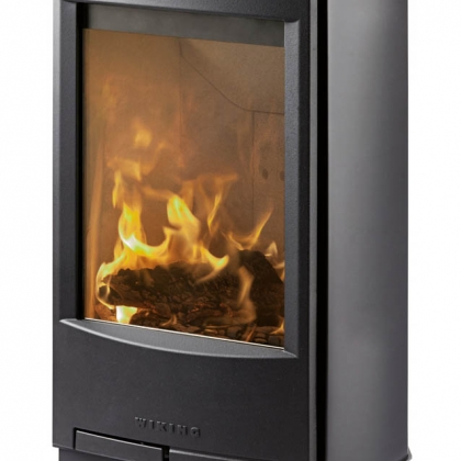 Short Window Wood Burning Stove