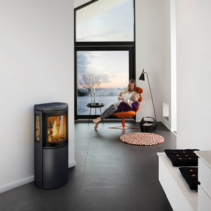 Three Window Wood Burning Stove