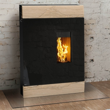 Wood Burning Stove in Modern Setting