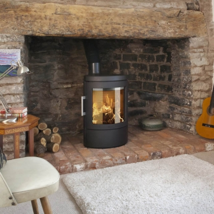 Wood burning stoves with Chimney