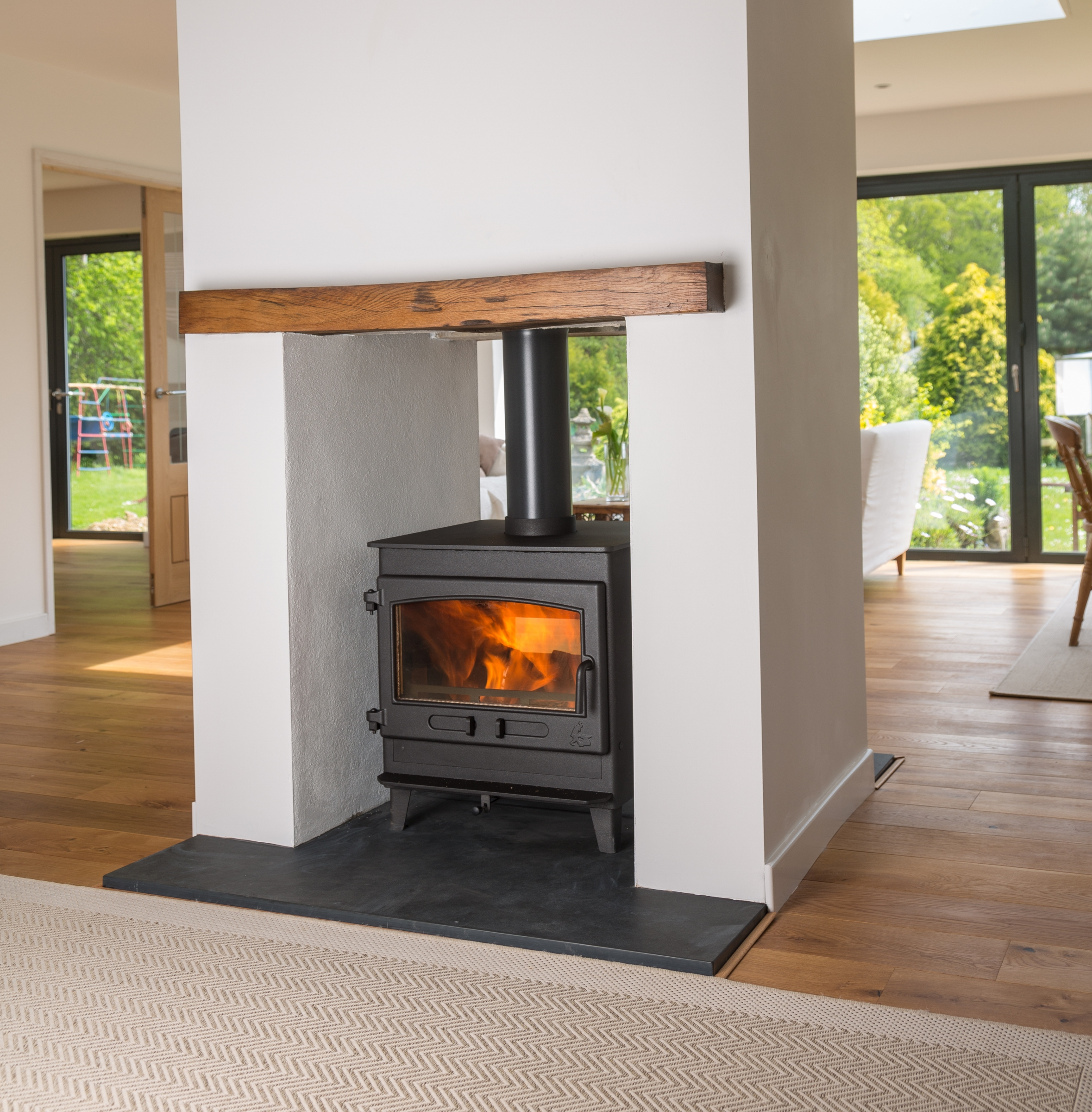 Croft Double Sided Small Wood Stove With A Energy Rating Stoves
